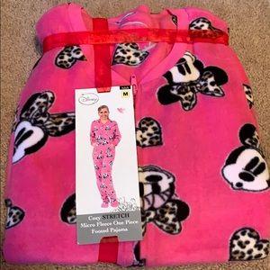 Disney Minnie Mouse women's medium m fleece onesie